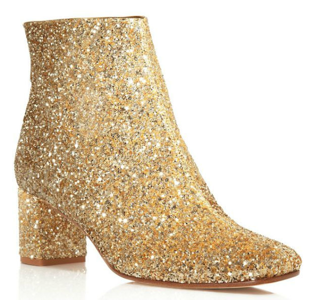 Gleaming Gold Booties