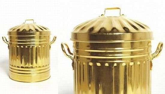 15 000 Garbage Bins Gold Plated Trash Cans From Sylvie