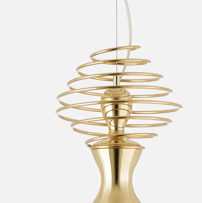 Abstract Gold-Plated Light Fixtures