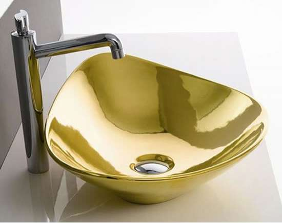 Gilded Bathroom Fixtures