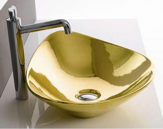 Gold bathroom sink
