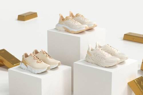 Golden Tonal Practical Sneakers