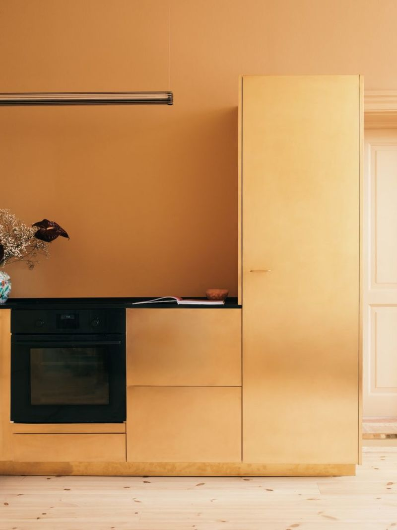 Golden Brass Kitchens