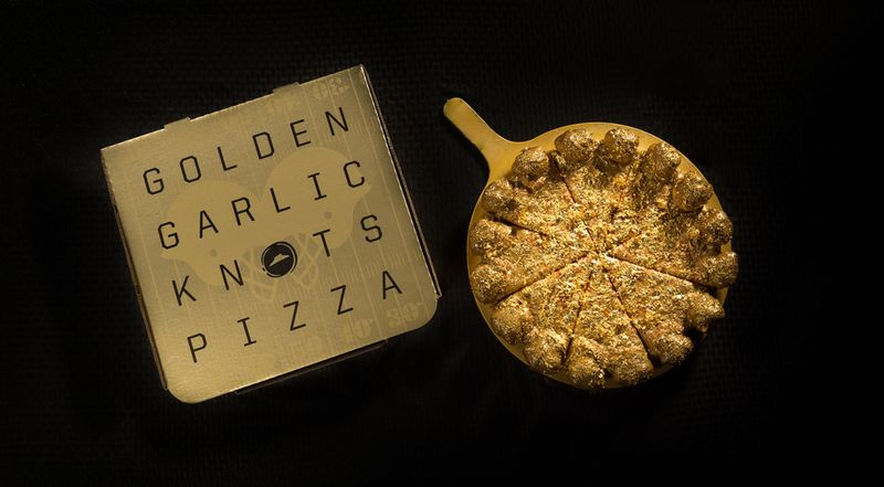 Edible Gold Pizzas