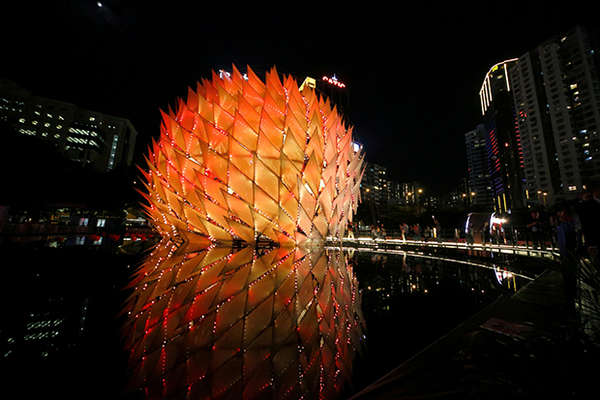 Gigantic Glowing Spherical Lanterns