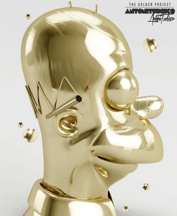 Modern Midas Touch Sculptures