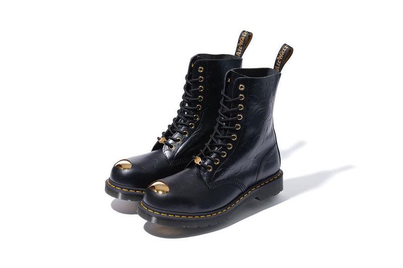 Golden Steel Toe Boots