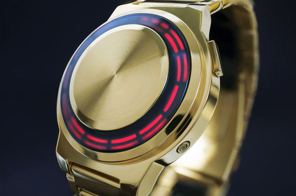 Gilded Turntable-Inspired Timepieces