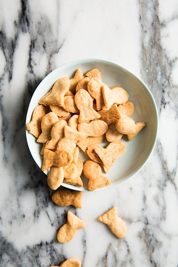 Homemade Fish-Shaped Crackers