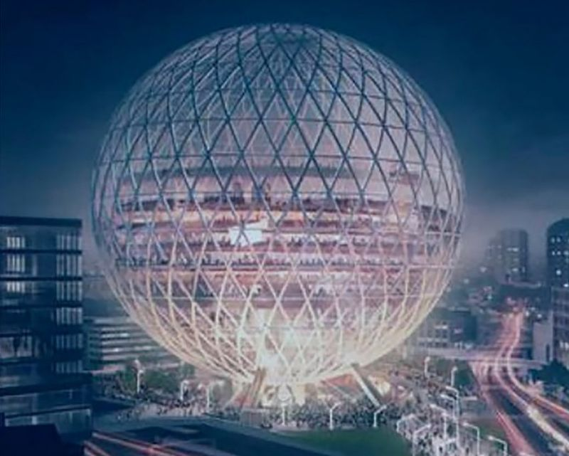 Massive Spherical Event Spaces