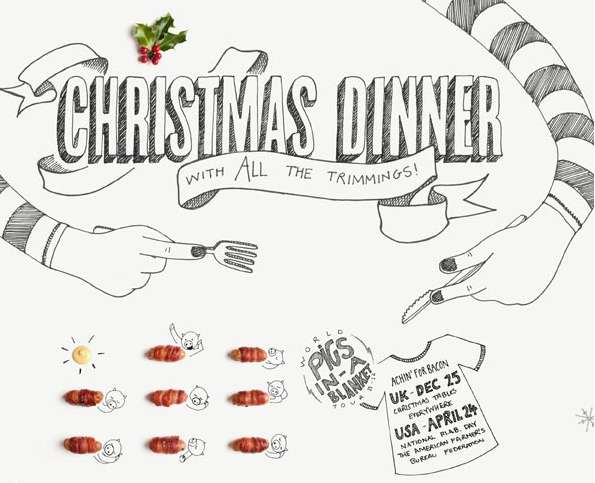 Cartoonized Holiday Dinners