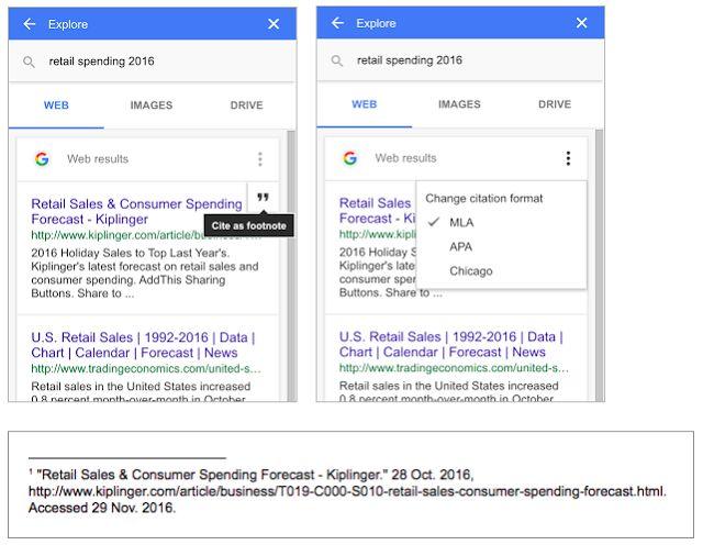 AutoCiting Word Processors Google Docs Explore - Google word processor
