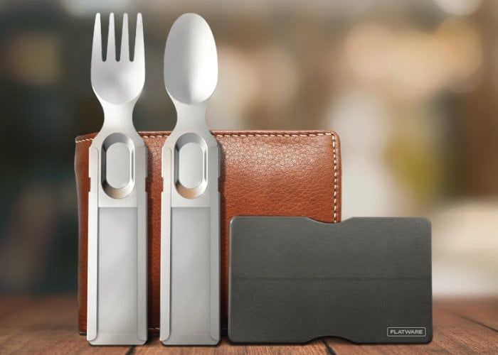 Flat-Packed Wallet-Sized Cutlery