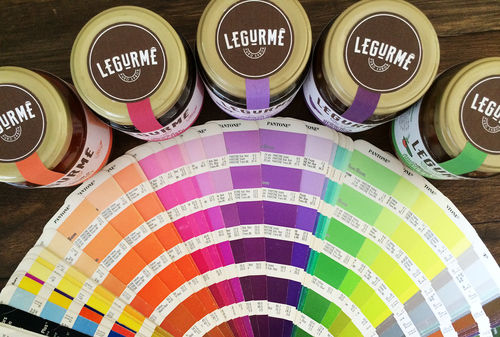 Paint Swatch Salsa Labels