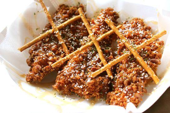 Salted Caramel Chicken Fingers