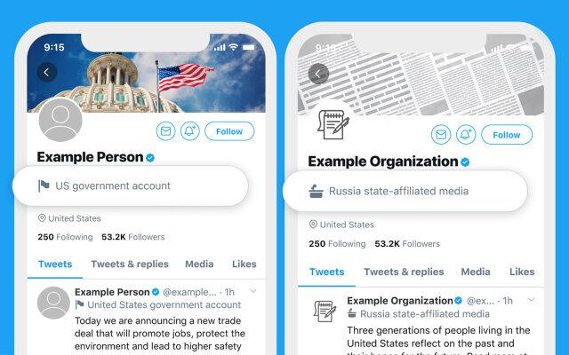 Government Social Media Labels