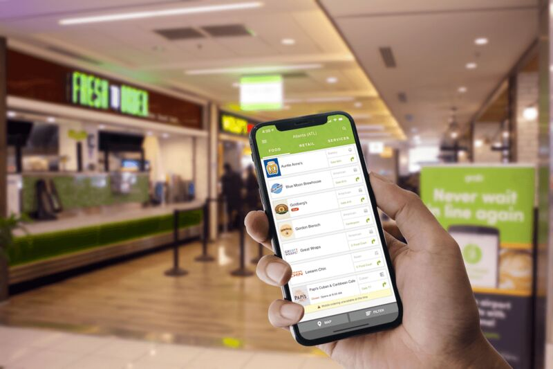 Airport-Specific Mobile Ordering Apps