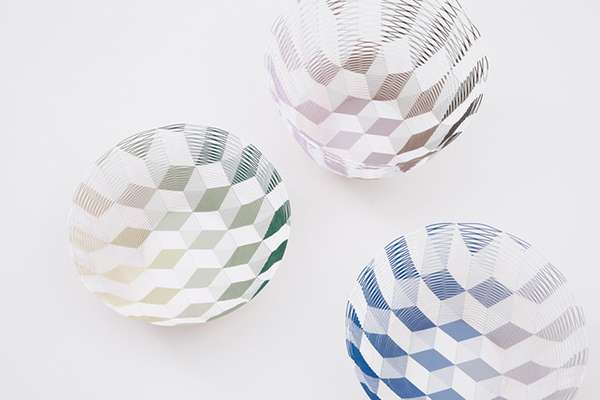 Laser-Cut Paper Containers