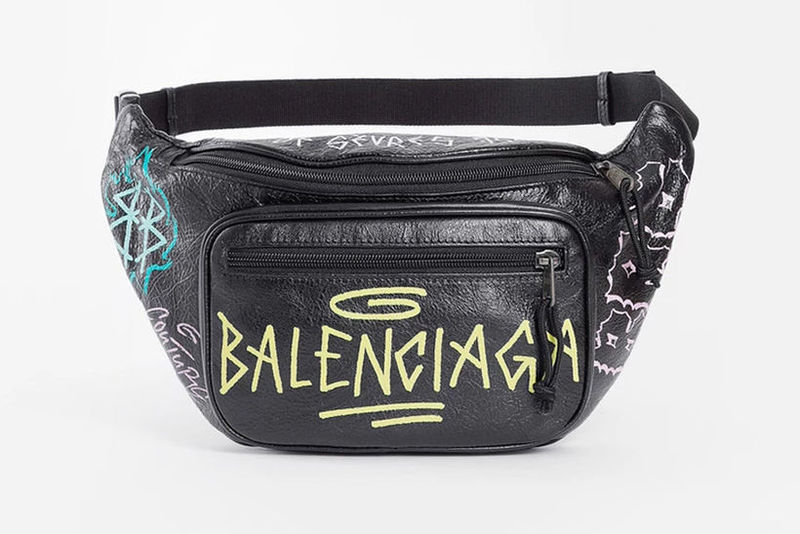 Retro Graffiti Fanny Packs