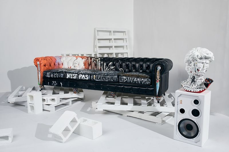 Ultra-Bold Graffiti Furniture