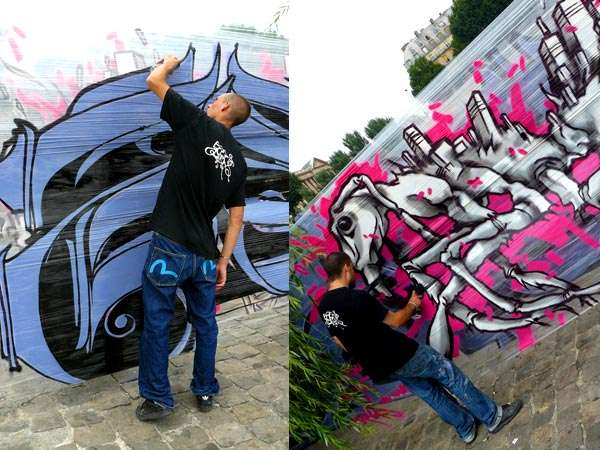 Wall-Free Graffiti Murals
