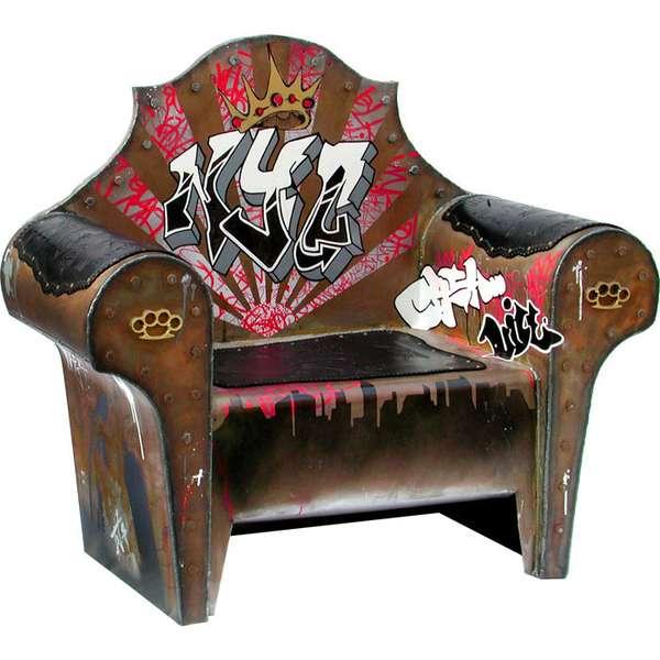 Graffiti Seat The Throne By Ted Nemeth