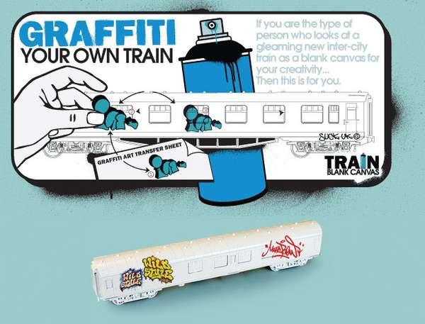 Train Graffiti Kit for Your Home