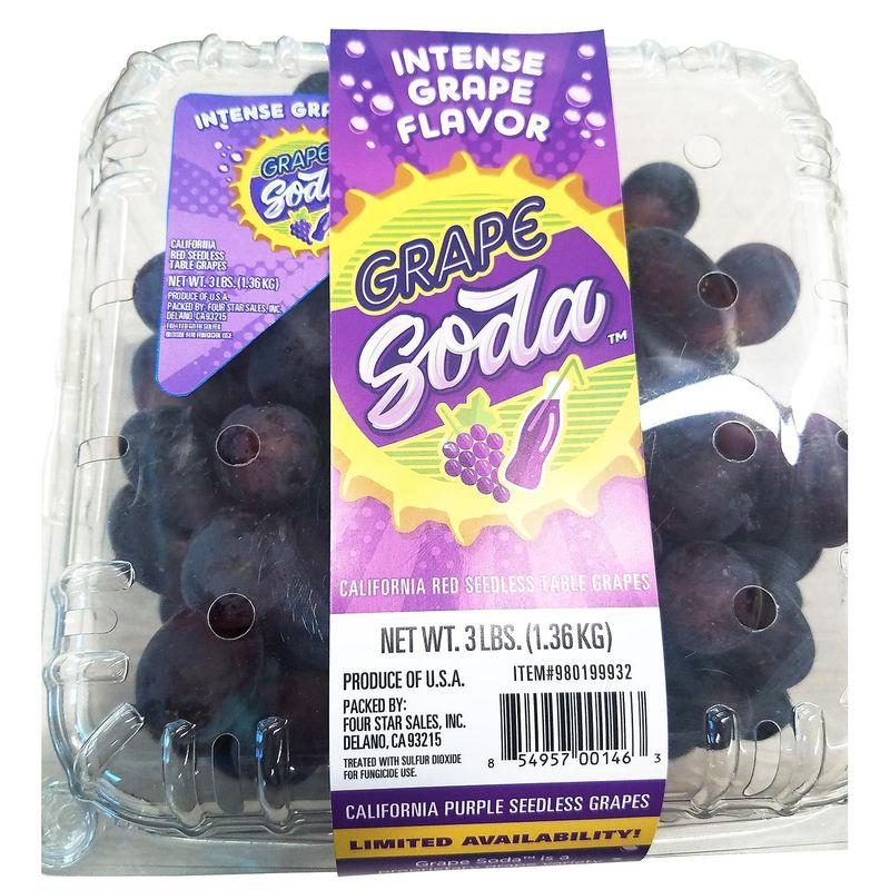Soda-Flavored Fresh Grapes