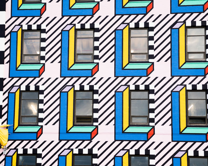 Geometry-Inspired Graphic Murals