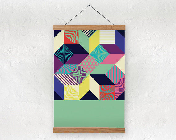 Geometric Op-Art Posters