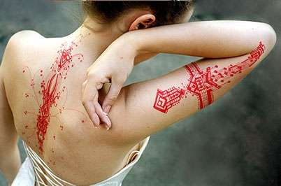 Graphic Temporary Tattoos