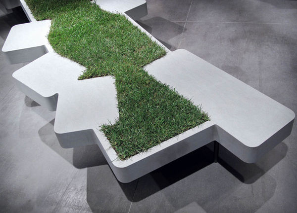 Eco-Friendly Turf Seating