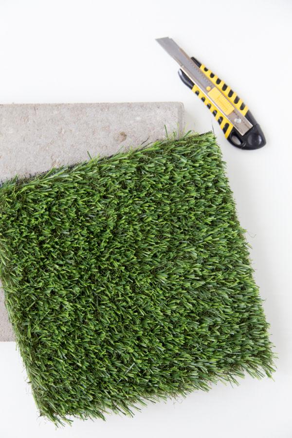 DIY Faux Grass Stones