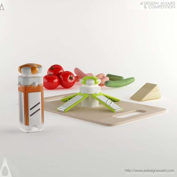 Compact Clippable Food Graters