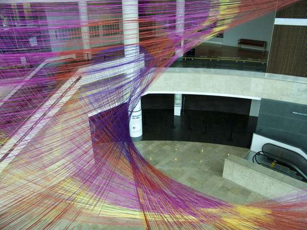 Multicolored String Art