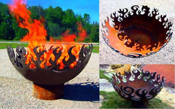 Recycled Steel Fire Pits