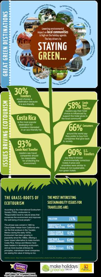 Eco-Friendly Holiday Infographics