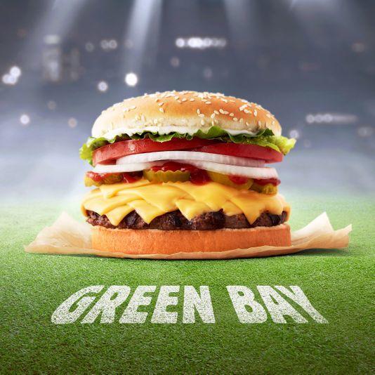 Cheesy Football Team Burgers