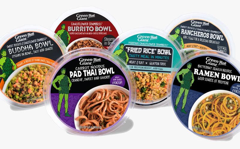 Prepackaged Vegetarian Meal Bowls
