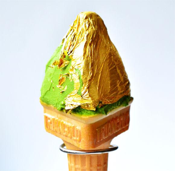 Gold Leaf Gelato Cones
