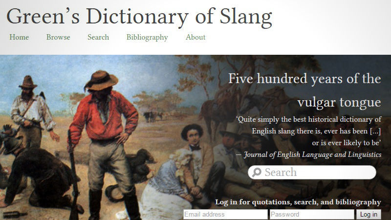 Scholarly Slang Dictionaries