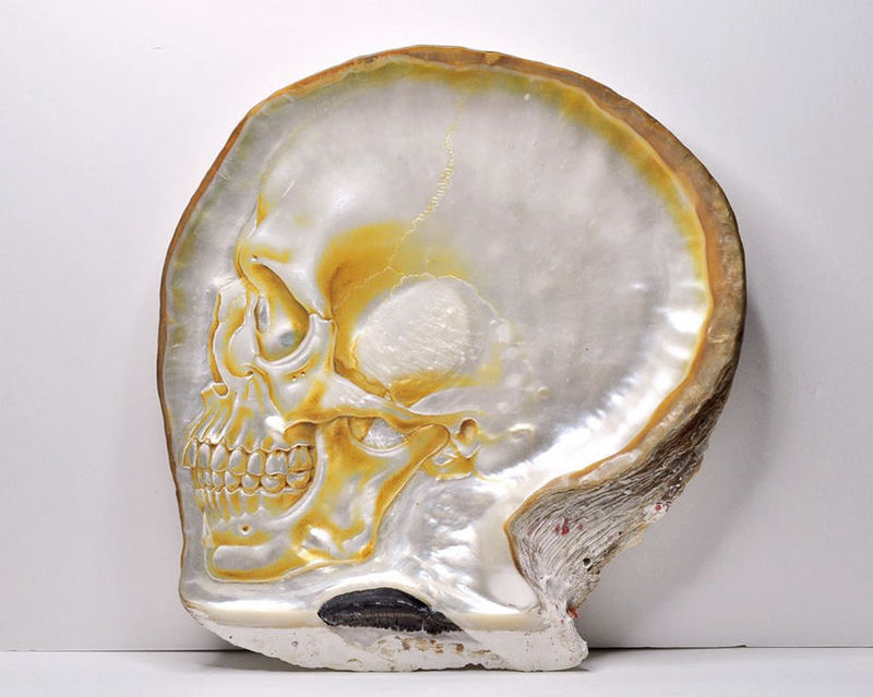 Carved Oyster Artwork