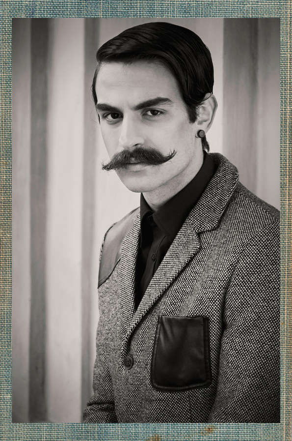 Antique Moustached Portraits