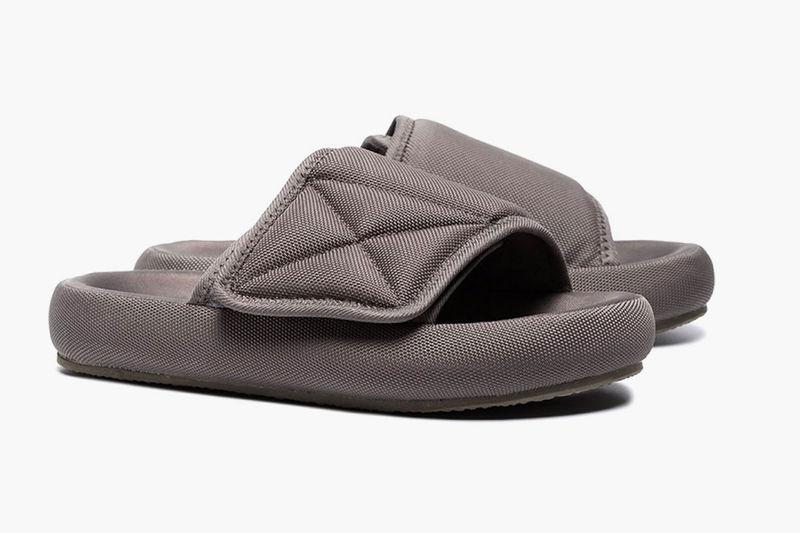 Grey-Hued Platform Slippers : grey platform slippers
