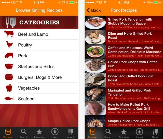 Grilling Recipe Apps