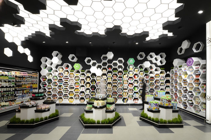 Hexagonal Grocery Merchandising