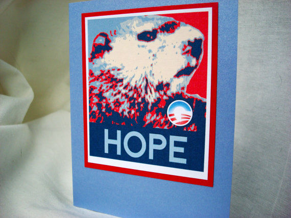 Presidential Groundhog Greetings