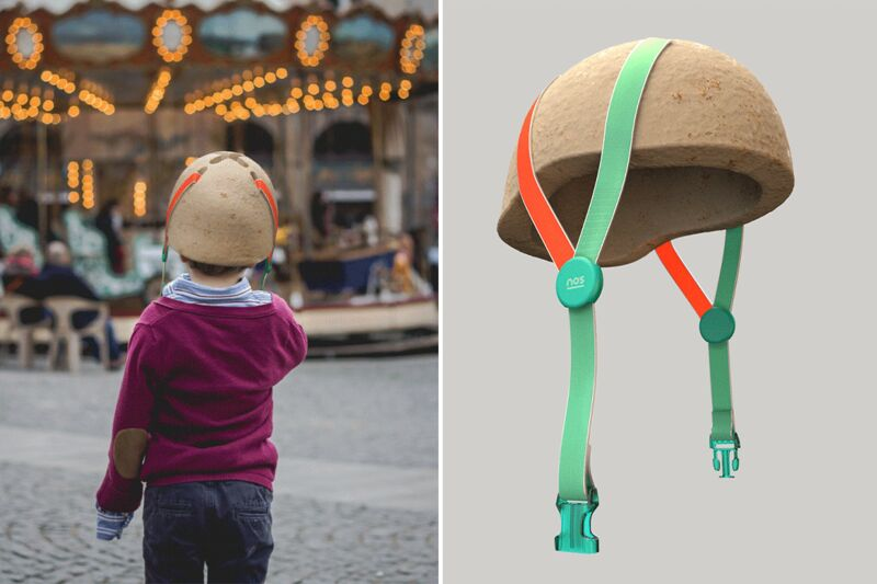 Sustainable Mushroom-Made Helmets