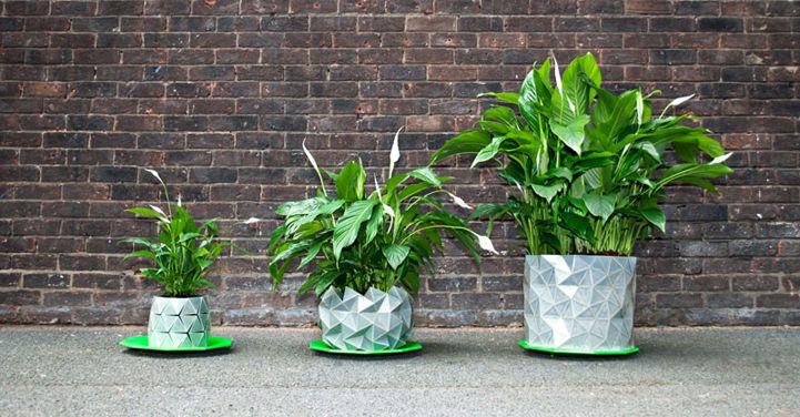 Shape-Shifting Origami Planters