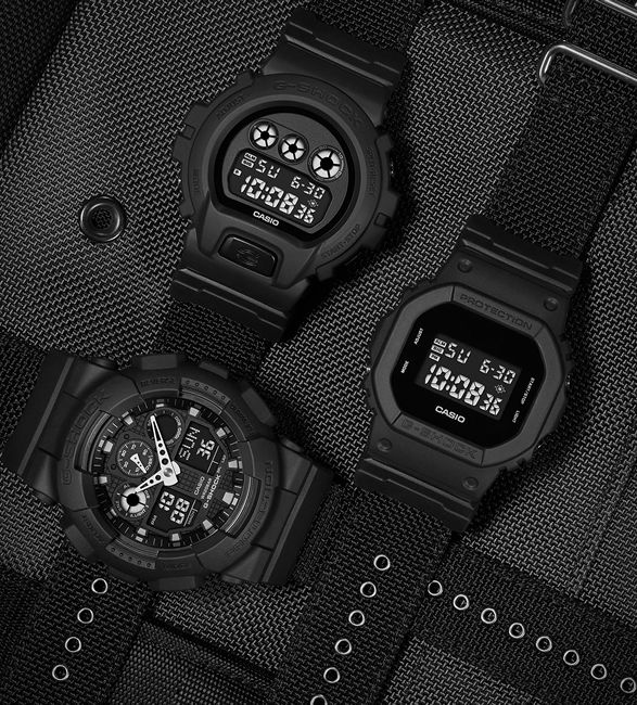 All-Black Performance Timepieces